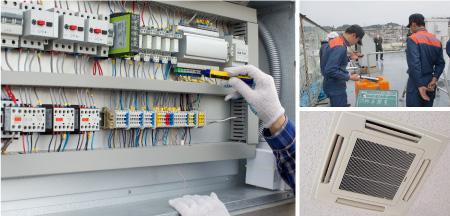 塗装・内装・電気工事・空調設備工事・消防設備点検・工事
